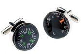 Spinki termometr i kompas