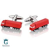 Czerwone ciężarówki spinki do mankietów dla kierowcy SD-1469