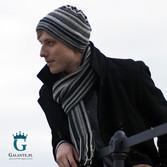 Szara czapka męska, na zimę z wełny owczej LW-14