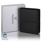 Czarny portfel męski Valentini 154-115