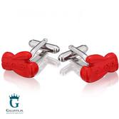 Czerwone rękawice bokserskie - spinki do mankietów