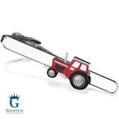 Traktor czerwony - spinka do krawata