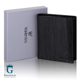 Portfel męski ze skóry naturalnej z membraną ochronną RFID - stylowo i bezpiecznie