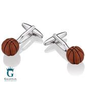 Koszykarskie spinki do mankietów Basketball X2