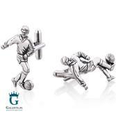 Piłkarz - spinki do mankietów