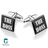 The Boss - spinki do mankietów dla szefa