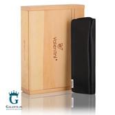 Skórzane etui z drewnianym pudełkiem na długopisy Valentini