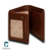 Skórzany portfel męski brązowy DR-27