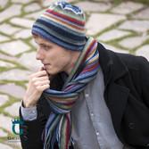 Kolorowa czapka męska, wełniana LW-4
