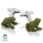 Zielone żabki - spinki do mankietów SD-1410