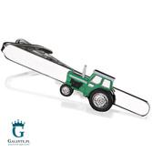 Zielony traktor - spinka do krawata