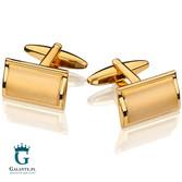 Złote spinki do mankietów, klasyczne SD-2214
