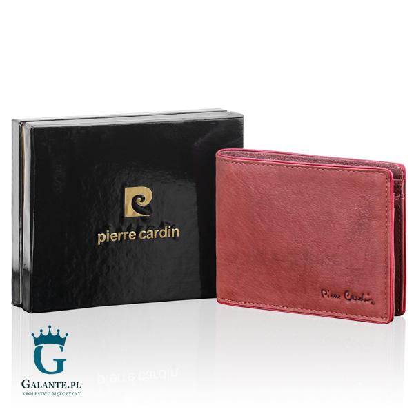 Brązowy portfel męski Pierre Cardin TILAK05 Tumble