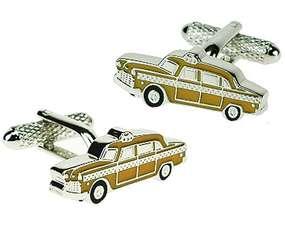 Zółta taksówka Yellow Cab - spinki do mankietów