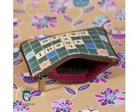 Scrabble - damska bilonówka, portfel na drobne 1723-SBL