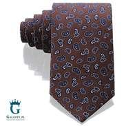 Brązowy krawat jedwabny Arcuri 14848-5