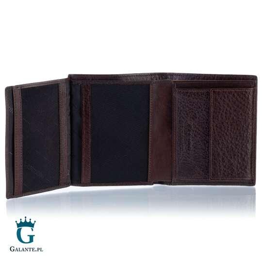 Brązowy portfel męski Valentini 159-459 z RFID