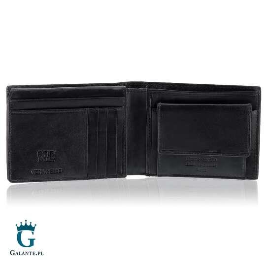 Brązowy portfel skórzany Pierre Cardin 8806
