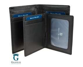 Czarny portfel męski z miejscem na dokumenty MB-3376-1