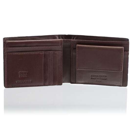 Czarny portfel skórzany Pierre Cardin 8806