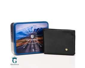 Czarny portfel z wizytownikiem