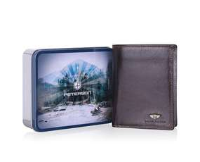 Duży Brązowy Portfel Męski PETERSON 350.03 RFID