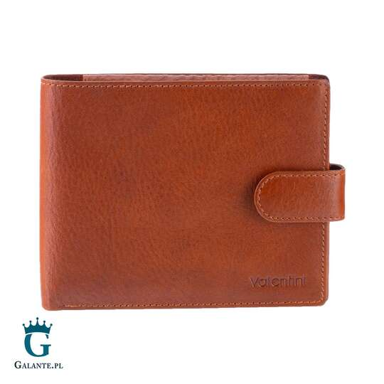 Duży portfel męski Valentini jasny brąz 159-293 z RFID