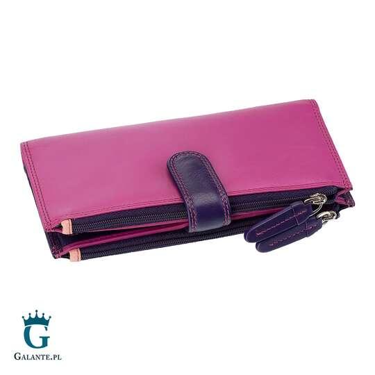 Duży wielokolorowy portfel damski Visconti RB-100 RFID