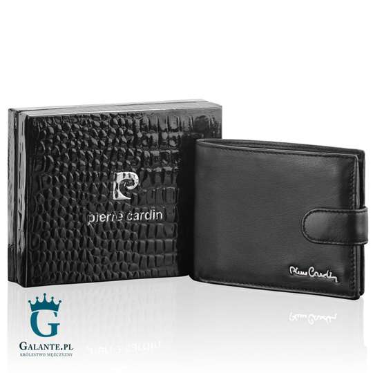 Duży zapinany portfel męski Pierre Cardin