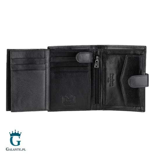 Duży zapinany portfel męski Pierre Cardin TILAK06 326A RFID