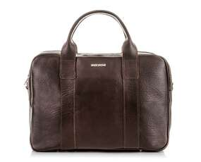 Elegancka brązowa torba ze skóry naturalnej Brodrene C01