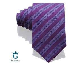 Fioletowy krawat jedwabny Arcuri 14813-7