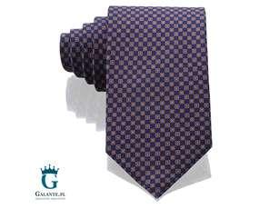 Granatowy krawat jedwabny Arcuri 14844-4