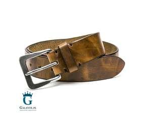Jasnobrązowy pasek skórzany casual/jeans Miguel Bellido 4985-40-8659-23
