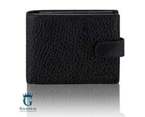 Klasyczny portfel męski zapinany na zatrzask RFID Valentini 159-293