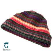 Kolorowa czapka męska, wełniana LW-39