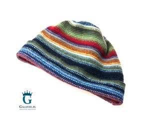 Kolorowa czapka męska, wełniana LW-3