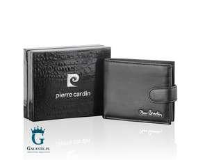 Kompaktowy portfel męski z zapięciem na zatrzask
