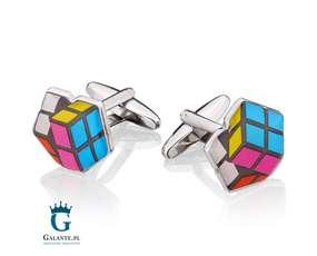 Kostka Rubika - spinki do mankietów