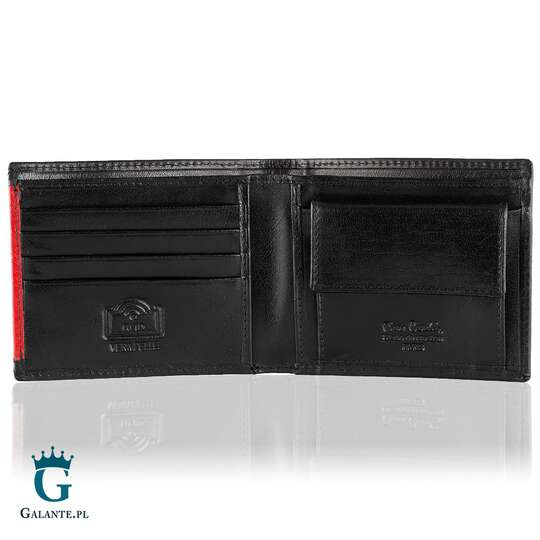 Mały portfel męski Pierre Cardin Black & Red TILAK29 8824 RFID