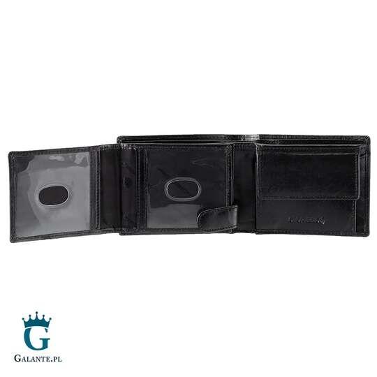 Mały skórzany portfel męski PETERSON 366 RFID