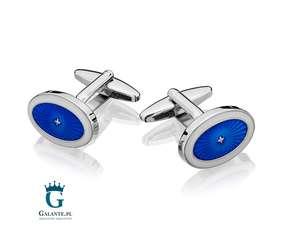 Niebieskie spinki do mankietów SD-1518