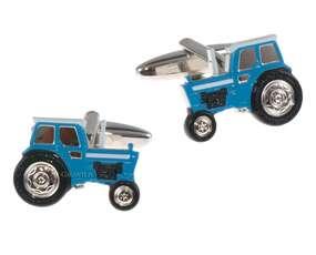 Niebieskie spinki do mankietów Traktor