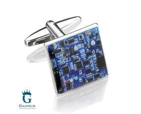 Niebieskie spinki do mankietów dla elektryka X2 Płyta główna Blue