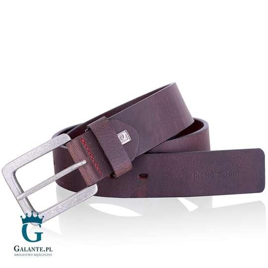 Pasek Pierre Cardin - brązowy do jeansów 70091