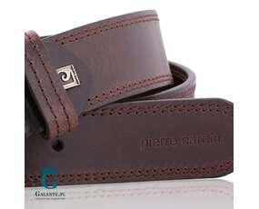 Pasek brązowy do spodni marki Pierre Cardin
