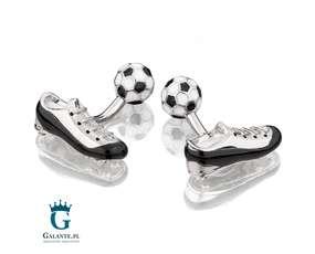 Piłkarskie spinki do mankietów, korki i piłka