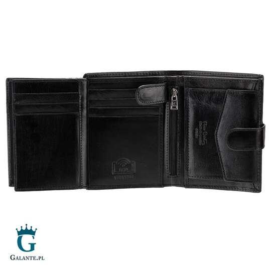 Pionowy portfel męski z zapięciem Pierre Cardin YS520.1 326A RFID