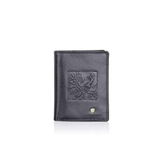 Pojemny Portfel Skórzany Męski z Orłem PETERSON 342.02 RFID