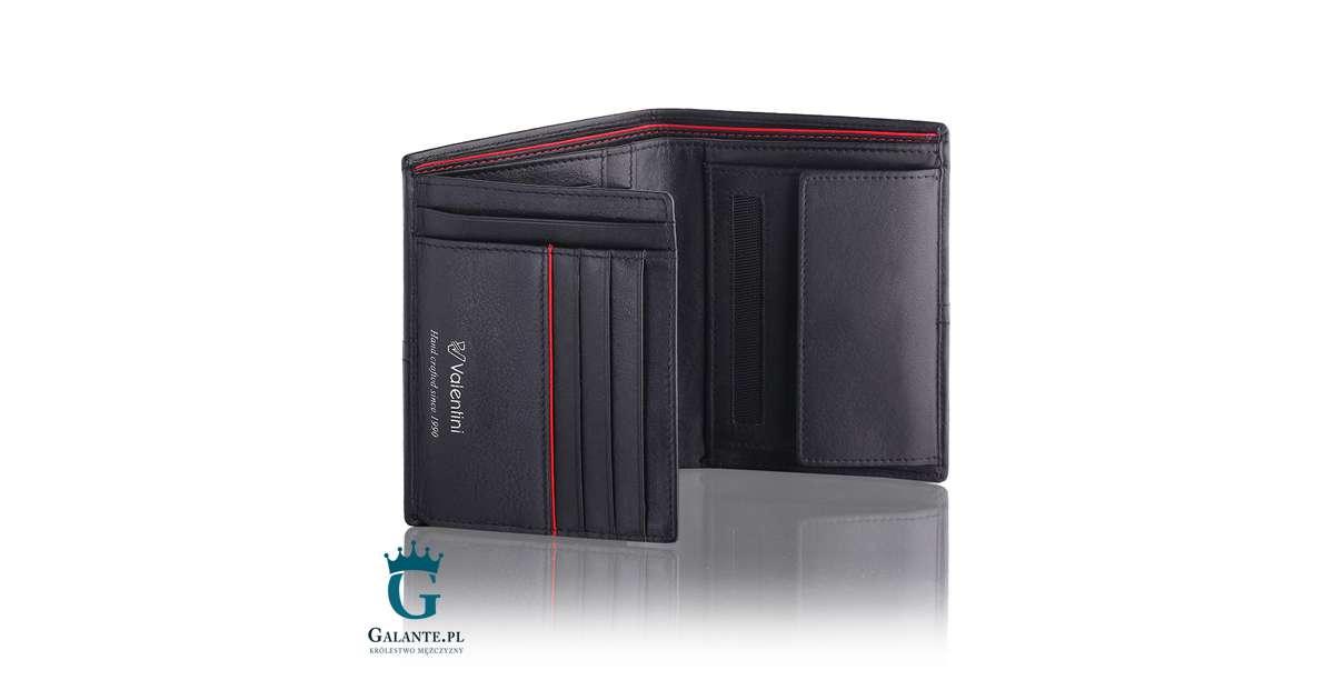 7c3d288112ac Portfel męski Valentini Ferrari Red   Black 154-266